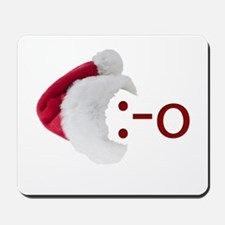 Oh! Emoticon with Santa Hat Mousepad
