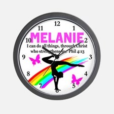 PRAYING GYMNAST Wall Clock