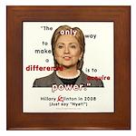 Hillary Power Hungry Framed Tile