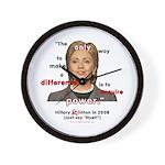 Hillary Power Hungry Wall Clock