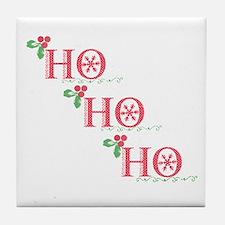 HO HO HO Tile Coaster