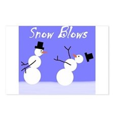 Snow Blows Postcards (Package of 8)