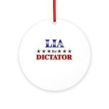 LIA for dictator Ornament (Round)