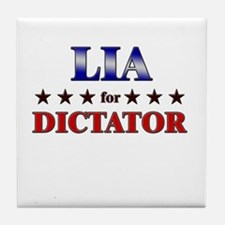 LIA for dictator Tile Coaster