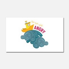 Angry Sea Car Magnet 20 x 12