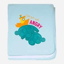 Angry Sea baby blanket