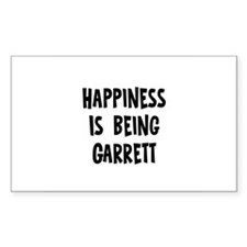 Happiness is being Garrett Rectangle Decal
