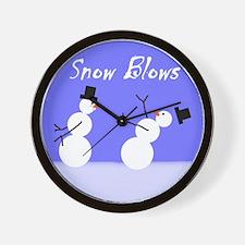 Snow Blows Wall Clock