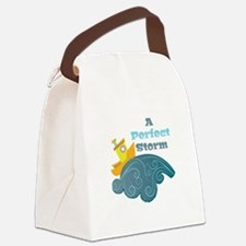 Perfect Storm Canvas Lunch Bag