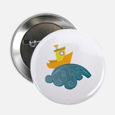 """Boat On Wave 2.25"""" Button (10 pack)"""