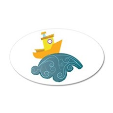 Boat On Wave Wall Decal
