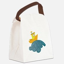 Boat On Wave Canvas Lunch Bag