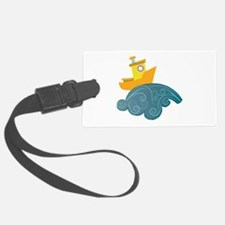 Boat On Wave Luggage Tag