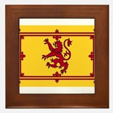 Cute Scottish flag Framed Tile