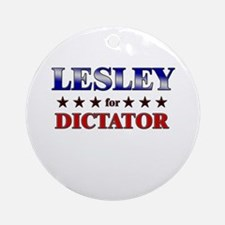 LESLEY for dictator Ornament (Round)