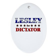 LESLEY for dictator Oval Ornament