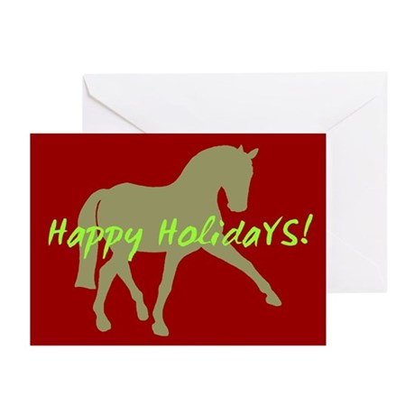 Dressage Horse Happy Holidays Greeting Cards (Pk o