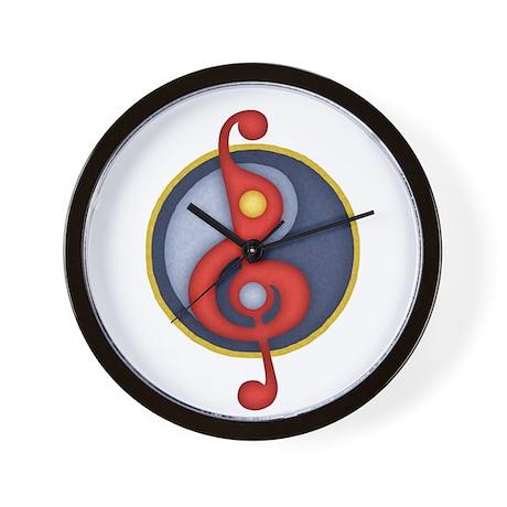 Yin Yang Clef Wall Clock