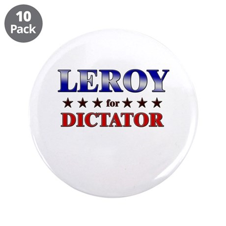 """LEROY for dictator 3.5"""" Button (10 pack)"""