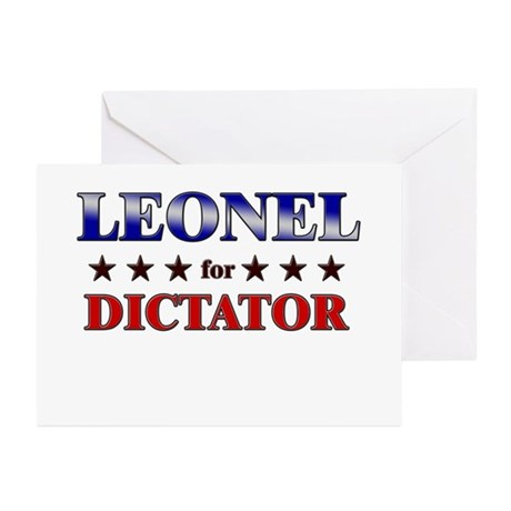 LEONEL for dictator Greeting Cards (Pk of 10)