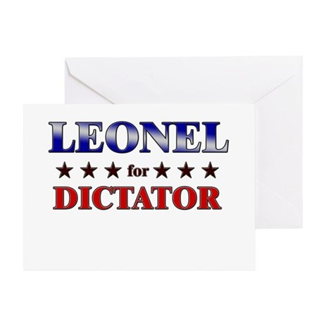 LEONEL for dictator Greeting Card