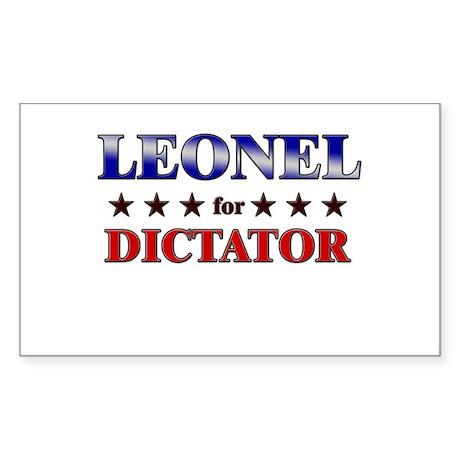 LEONEL for dictator Rectangle Sticker