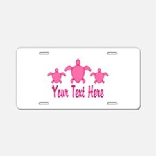 Pink Sea Turtle Name Aluminum License Plate