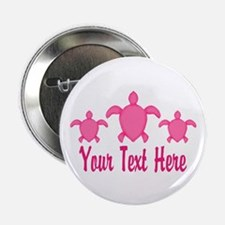 """Pink Sea Turtle Name 2.25"""" Button (10 pack)"""