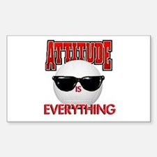 Attitude is Everything Rectangle Decal