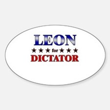 LEON for dictator Oval Decal