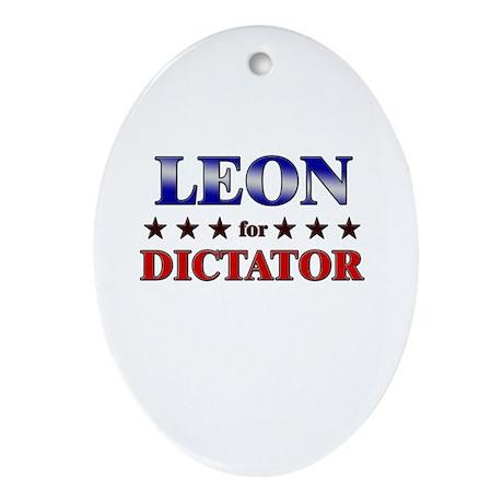 LEON for dictator Oval Ornament