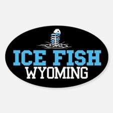 Ice Fish Wyoming Oval Decal
