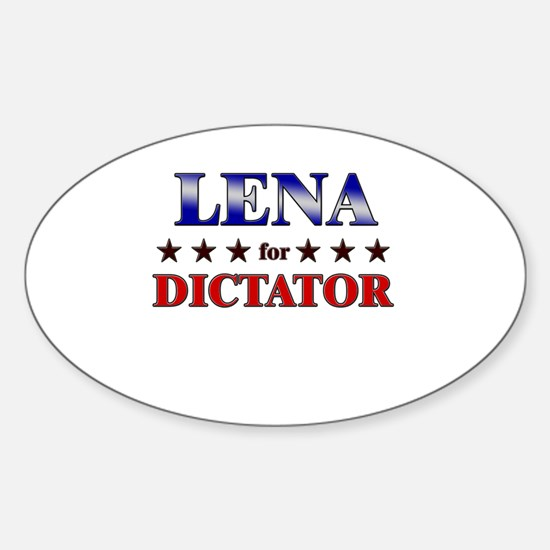 LENA for dictator Oval Decal
