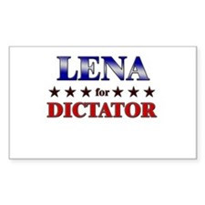 LENA for dictator Rectangle Decal