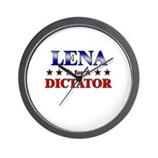 LENA for dictator Wall Clock