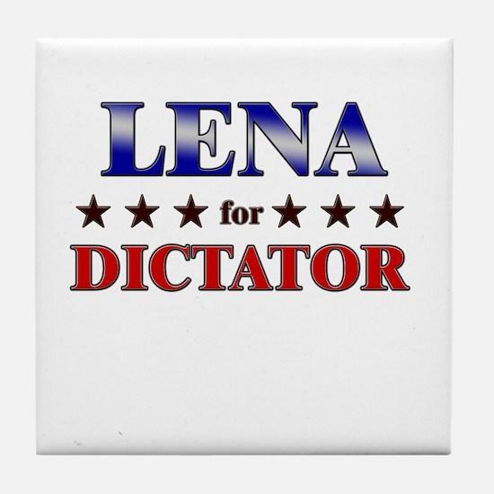 LENA for dictator Tile Coaster