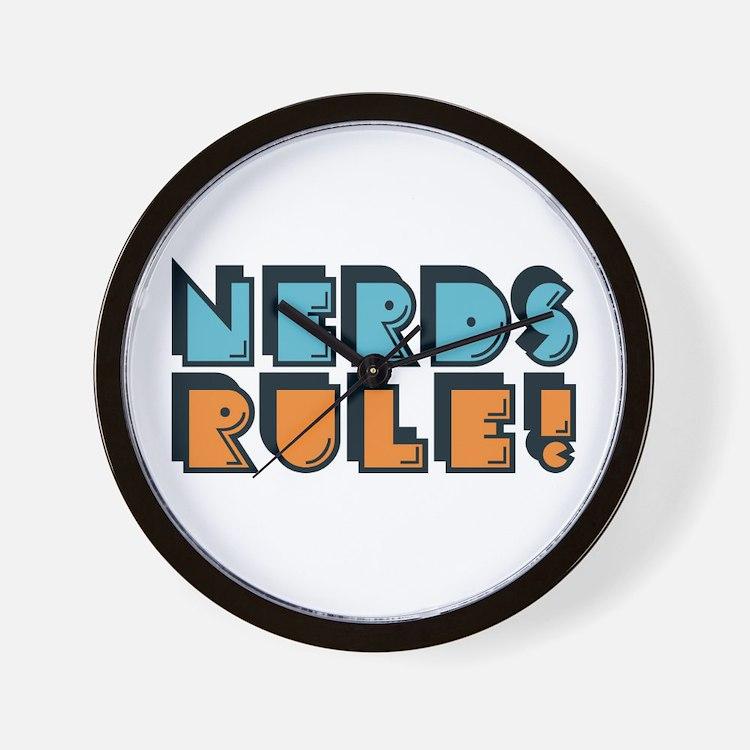 Nerds Rule! Wall Clock
