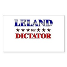 LELAND for dictator Rectangle Decal