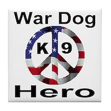 War Dog K9 Hero Tile Coaster