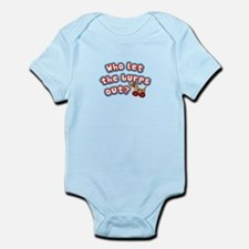 Who let the burps out? Funny Baby Shirt Body Suit