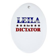 LEILA for dictator Oval Ornament