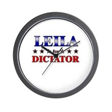 LEILA for dictator Wall Clock