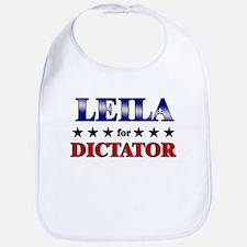 LEILA for dictator Bib