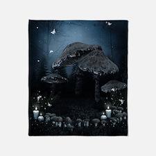 Mystic Mushrooms Throw Blanket