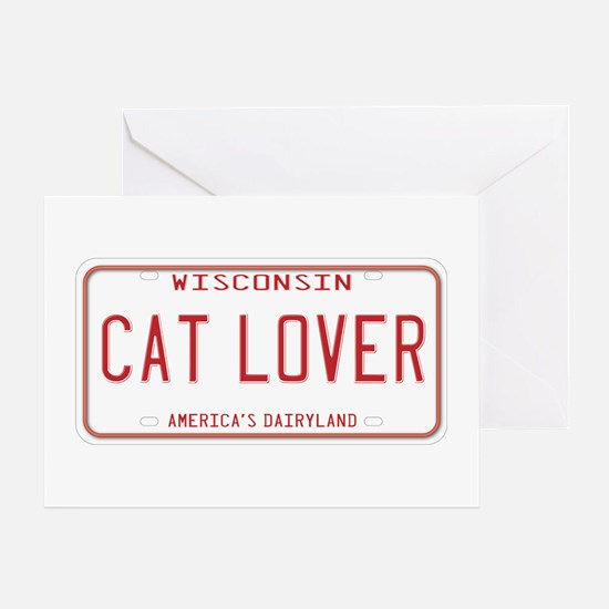 Wisconsin Cat Lover Greeting Card