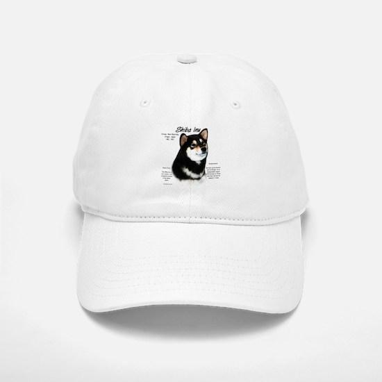 Shiba Inu (blk/tan) Baseball Baseball Cap