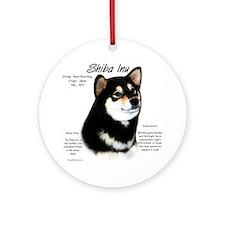 Shiba Inu (blk/tan) Ornament (Round)