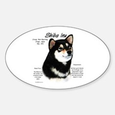 Shiba Inu (blk/tan) Oval Decal