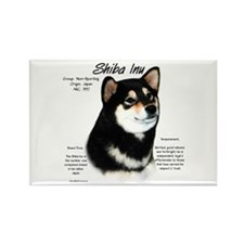 Shiba Inu (blk/tan) Rectangle Magnet