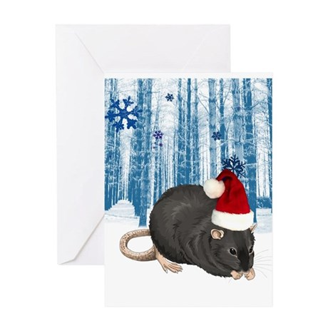 Christmas Rat Greeting Card
